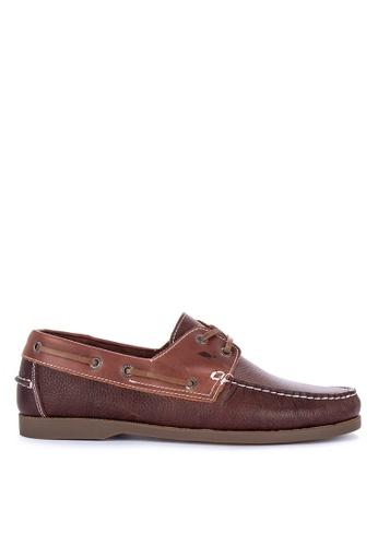G&G brown Jovacelli Boat Shoes 64060SHDEB057FGS_1