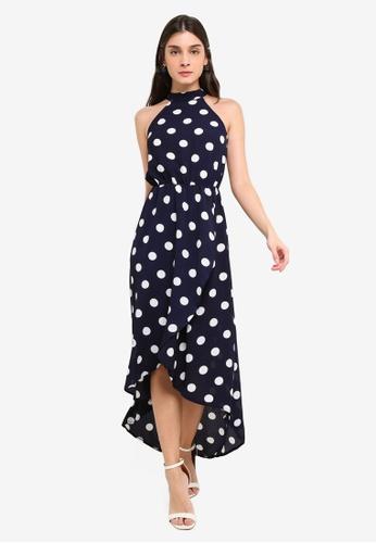 4305276f4ae26 Shop AX Paris Polka Dot High Neck Dress Online on ZALORA Philippines