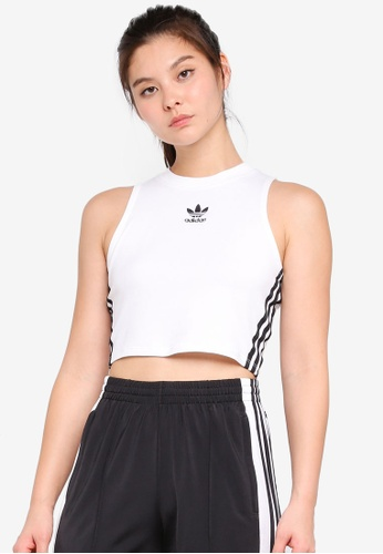 adidas white adidas originals crop tank top 6E5B8AA54FF0B7GS_1
