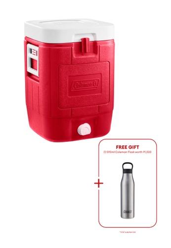 Coleman red 5 Gallon Cube Beverage Cooler 1A006HLFF0FD14GS_1