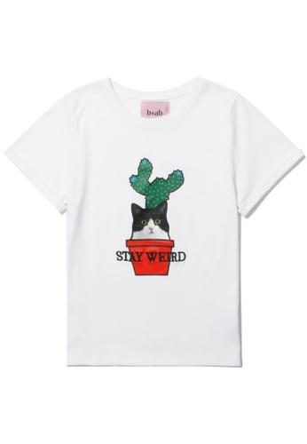 b+ab white Cat Cactus tee 586A0AA9779572GS_1