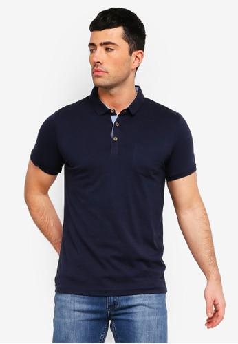Brave Soul navy Julius Polo Shirt 85924AAC503870GS_1