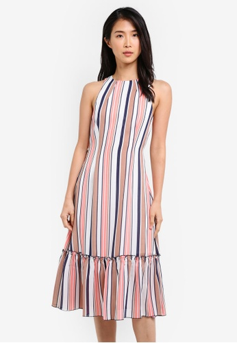 ZALORA multi Ruffled Hem Tie Front Dress B1075AA499EAA6GS_1