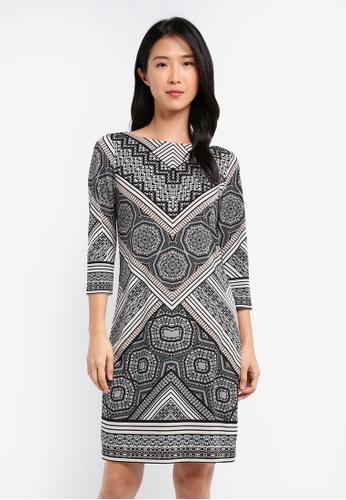 Wallis black Stone Printed Tunic Dress WA800AA0SL1JMY_1