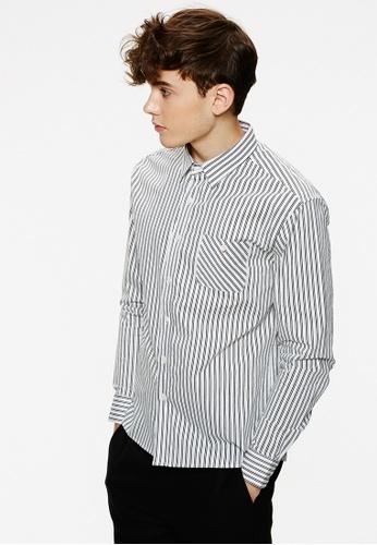 Life8 white Casual Regular Fit Stripe Shirts-03884-White LI283AA0FT4GSG_1