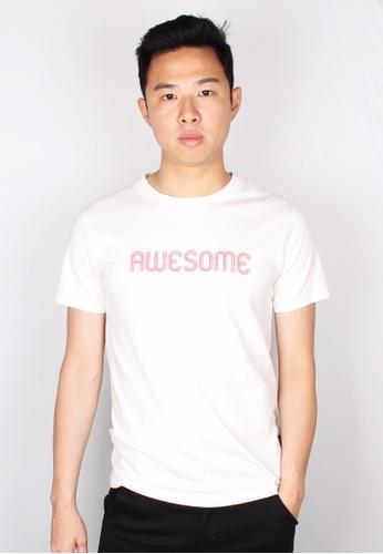 Moley white AWESOME T-Shirt 6B289AA9EF87CFGS_1