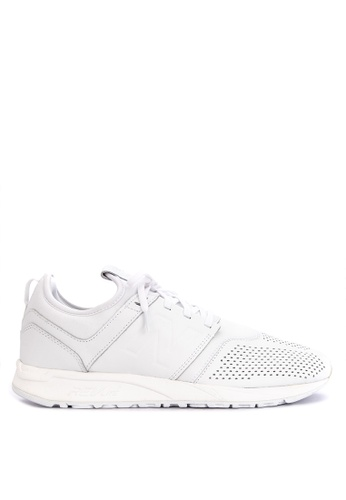 New Balance white 247 Core Leather Sneakers 780D6SH34A3F4AGS_1
