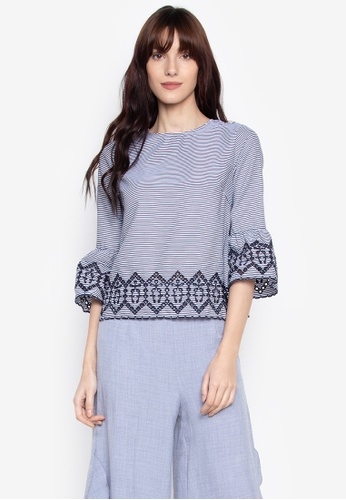 0603a00d9a136 ... Shop Kamiseta Blouse With Eyelet Online on ZALORA Philippines