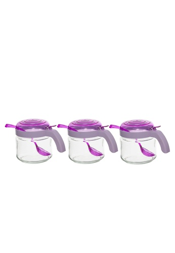 Herevin Herevin 3 Pcs 300ML Spice Jar Set with Spoon / Jar Set / Container Set - Light Pink / Light Green / Light Purple 41AECHL0D10BD3GS_1