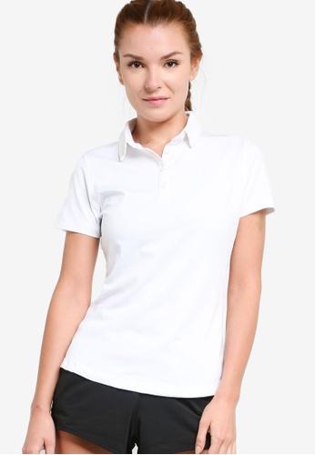 Under Armour white Zinger Short Sleeve Polo Shirt F2626AA07F751CGS_1