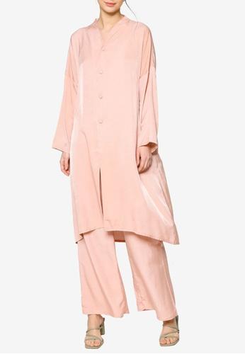 ZALIA BASICS pink Lounge Top with Pants Set 1E375AAE53FFBBGS_1