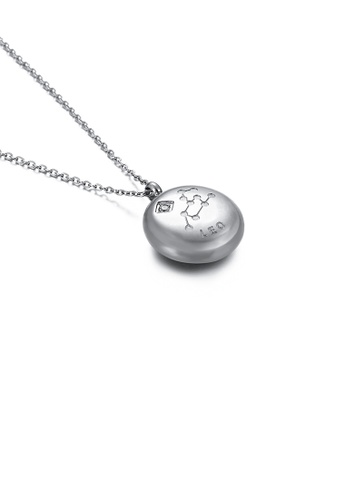 Glamorousky white Fashion and Simple Twelve Constellation Leo 316L Stainless Steel Pendant with Cubic Zirconia and Necklace 90516ACEABAFF3GS_1
