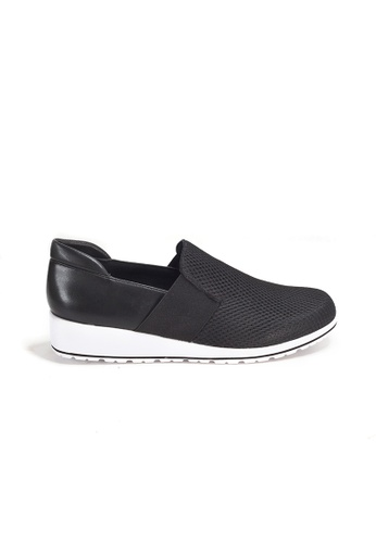 Shu Talk black WALKING CRADLE Bi-color Chic Comfort leather sneakers 881D9SH635FC78GS_1