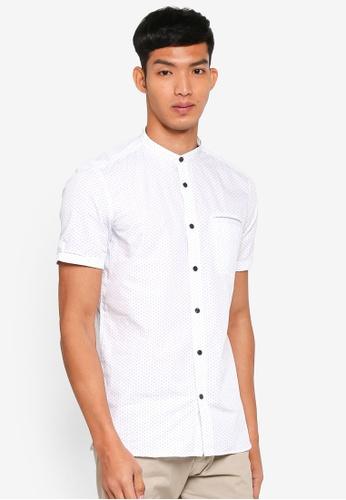 ESPRIT white All Over Print Short Sleeve Shirt FDFA0AA52031D4GS_1