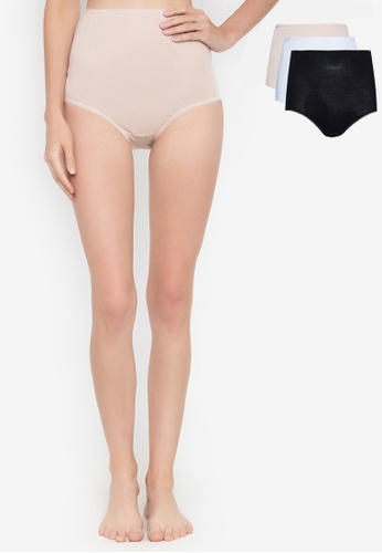 c04de735394a MARKS & SPENCER multi 4 Pack Pure Cotton Full Briefs Knickers  18F82US173BD9AGS_1