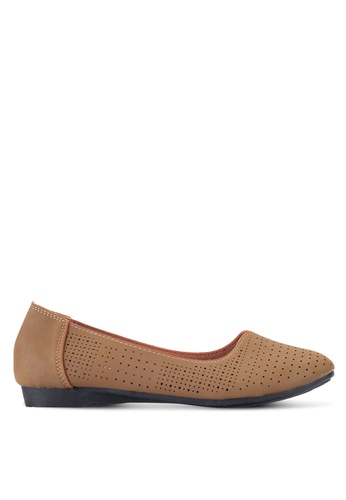 Louis Cuppers brown Perforated Flats LO977SH99REIMY_1