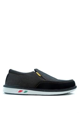 CDE black Sepatu Slip-on Pria Black / Hitam Kasual for Travelling dan petualangan Skate 8784DSH0005837GS_1