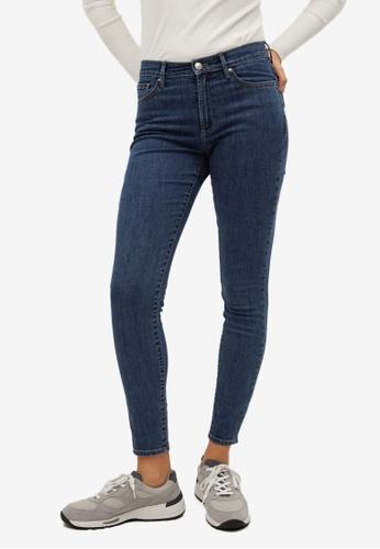 Mango 藍色 Cotton Skinny Jeans 25E91AAF812C7BGS_1