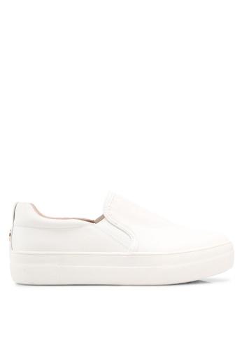 TOPSHOP white Tina Platform Slip On Trainers 9961FSHE46A927GS_1