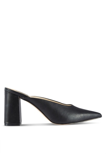 Miss Selfridge black Lucie Point Backless Court Shoes MI665SH03WOQMY_1