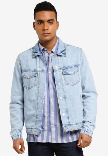 MANGO Man blue Light Wash Denim Jacket A495CAA007A4E9GS_1