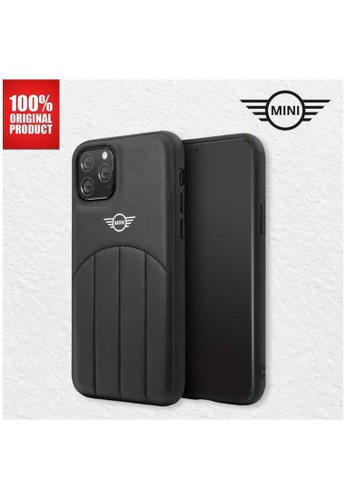 """Mini Cooper black Mini Cooper Casing Iphone 11 Pro 5.8"""" - PU Leather Stitched - Black B422DESAC2B88CGS_1"""