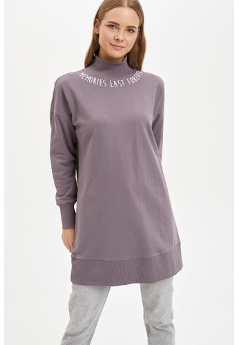 DeFacto purple Woman Knitted Long Sleeve Knitted Tunic 6C36AAA4CC0D7DGS_1