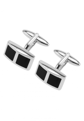 CUFF IT black Polished Black Dur Enamel Cufflinks CU047AC51FGAHK_1