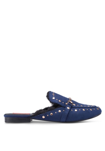 Nose blue and navy Studded Flat Mules 19780SH73FA1BCGS_1