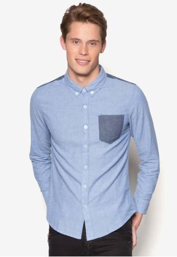 拼色長袖襯衫, 服esprit台灣網頁飾, 服飾