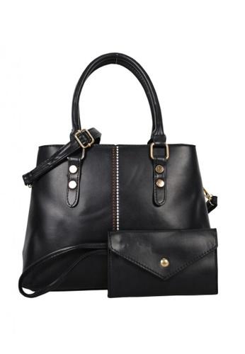 Kimbel International black BCA2062 Handbag with Sling 64C74ACA9F62D4GS_1