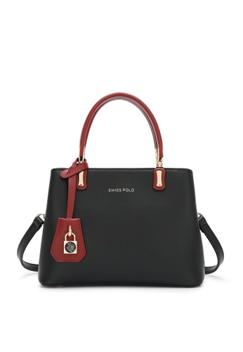 Swiss Polo black Casual Top Handle Bag 21038ACE2192B4GS_1