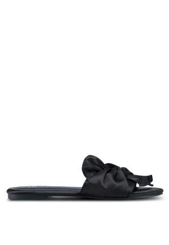 OVS black Knotted Upper Sandals 82FBBSHF2072C4GS_1