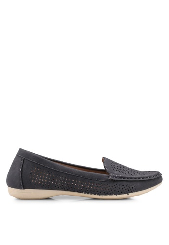 Bata grey Slip On Loafers 72FCESH574BE02GS_1