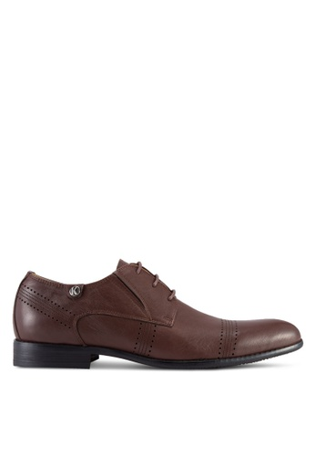 Knight brown Brogues with Perforated Detail KN875SH07OLWMY_1