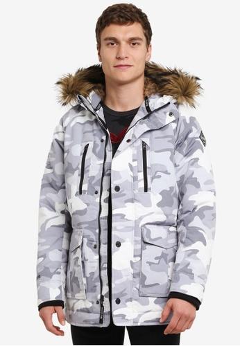 Hollister 白色 Down Hood 夾克 HO422AA0S3BQMY_1