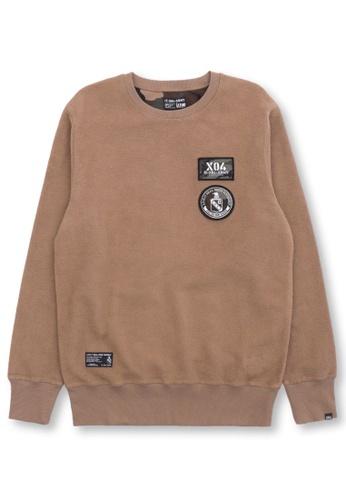 izzue beige Appliqué sweatshirt C500EAA8B1DE22GS_1