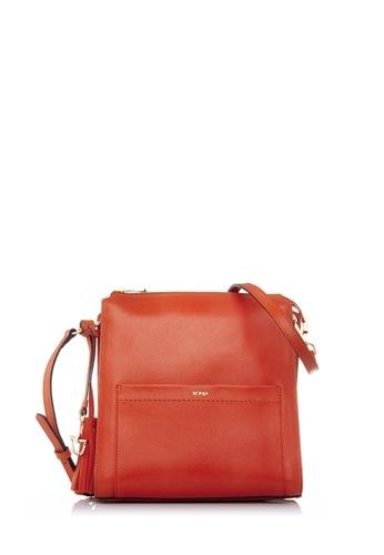 BONIA red Bonia Orange Crocuet Crossbody Bag M 6E686AC20E164AGS_1