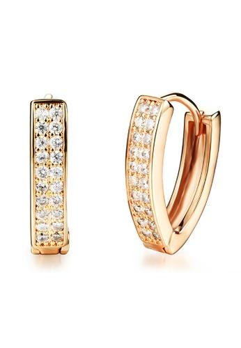 Youniq Gold Cz Rec 14k Anium Earrings Rosegold Yo999ac04tehmy 1