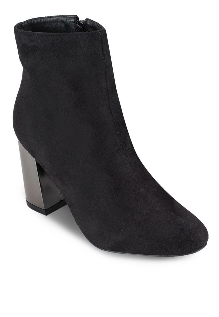 Metallic Heel Ankle Boots