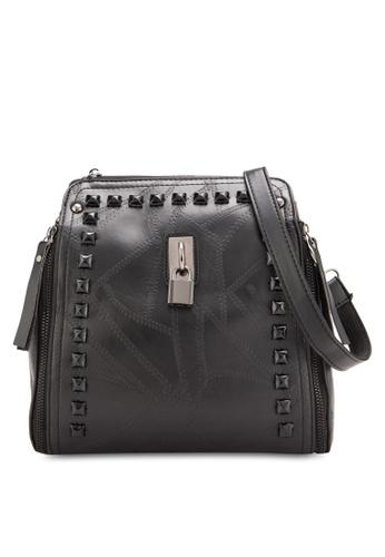 Sunnydaysweety black 2018 New Black Leather Handbag RA10112BK 5F455AC0343E3FGS_1