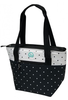 Classic B&W Swiss Dot Cooler Tote 16 Bag