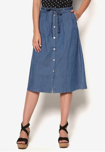 編織腰帶及膝短裙,esprit outlet 高雄 服飾, 服飾