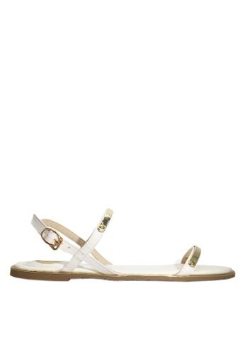 Twenty Eight Shoes 白色 性感幼帶平底涼鞋 VS8868 29E39SHDF63662GS_1