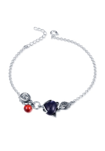 Buy Mblife 925 Sterling Silver Synthetic Stone Lucky Charm Bracelet