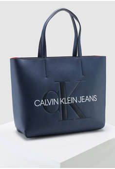 3474d57071c Calvin Klein Brand Print Tote Bag - Calvin Klein Accessories RM 599.00.  Sizes One Size