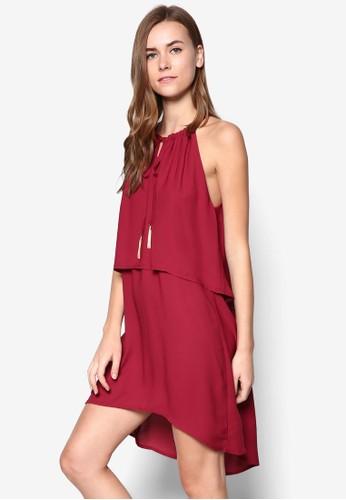 層疊繫esprit台灣網頁帶寬擺洋裝, 服飾, 服飾