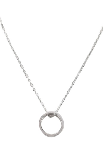 agnès b. silver Iconic Cube Necklace A51ACAC0861093GS_1