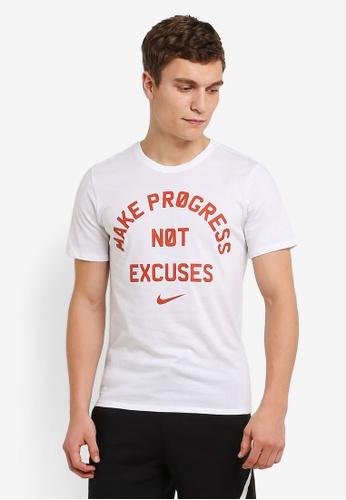 Nike white Men's Nike Dry Training T-Shirt NI126AA0RWG7MY_1