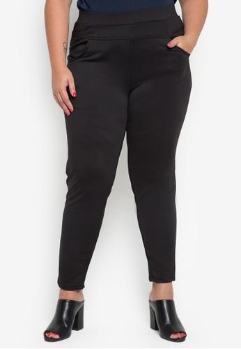 dbe60f35297 Shop Maxine Plus Size Black Full Stretch Knit Pants Online on ZALORA  Philippines
